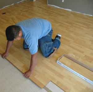 Laminate Flooring With Attached Underlay.